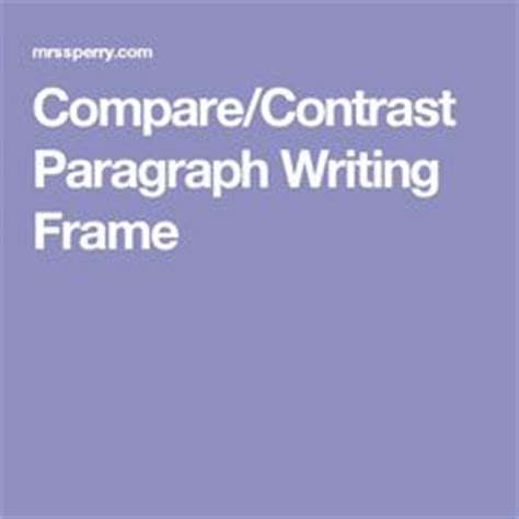 Compare and Contrast Essay: Writing Tips
